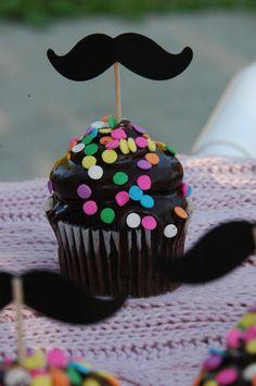 Pretty Little Moustache Cupcake