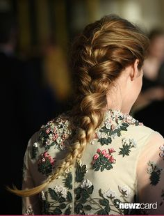 Olivia Palermo, hair detail, May 7, 2015 (Photo by Andrew Toth/FilmMagic)