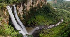 """Salto do Apucaraninha - Reserva dos Índios Kaingang"" (Foto: Wilson Vieira) | Londrina, Paraná, #Brazil."