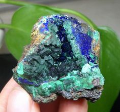 Rare Green Malachite Pseudomorph after Blue Azurite Vug Specimen China 990 #UnbrandedGeneric