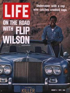 "Flip Wilson ~ August 4, 1972 issues ~ Old Life Magazines ~ Click image to purchase. Enter ""pinterest"" at checkout for a 12% discount."