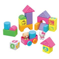 Toyroyal X Hello Kitty Baby Kids Building Blocks Set Stack Game 18 Pieces Stack Game, Hello Kitty Baby, Building For Kids, Baby Games, Toddler Toys, Making Out, Your Child, Rooster, Baby Kids