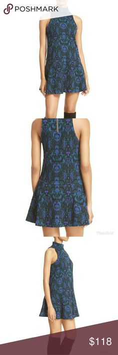 NWOT Free People Amelia Tank Swing Dress New without tags - never worn  Textured heavy weight knit Mock turtleneck Exposed zipper at back neckline Dropped waist with flounce hem 54% cotton 37% polyester 6% wool 3% spandex   PLEASE READ CLOSET INFO AND POLICIES POST Free People Dresses