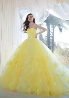 Ideas For Dress Prom Yellow Ball Gowns Pretty Quinceanera Dresses, Cute Prom Dresses, Pretty Dresses, Dress Prom, Formal Dress, Ball Gowns Prom, Ball Gown Dresses, Party Gowns, Moda Lolita