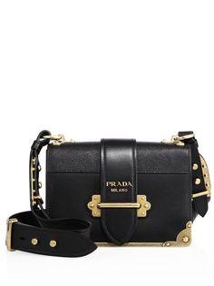 ace8fb02d481 Prada - Cahier Notebook Leather Shoulder Bag Unique Handbags, Purses And  Handbags, Prada Handbags