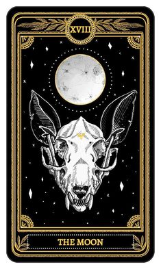 The Moon from the Major Arcana of the Marigold TarotYou can find Tarot cards and more on our website.The Moon from the Major Arcana of the Marigold Tarot Wicca, Tarot Tattoo, Arte Black, Art Carte, Arte Obscura, Tarot Spreads, Arte Horror, Tarot Readers, Oracle Cards