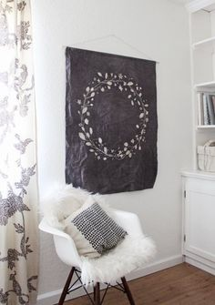 Goodbye, Big Blank Walls: Large-Scale Solutions - hate this particular tapestry but love the idea