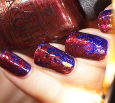 OPI - Let your love shine and give me space in a swirly marble
