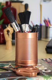 STYLE, SPACE & STUFF: DIY- Copper tins and Scissors