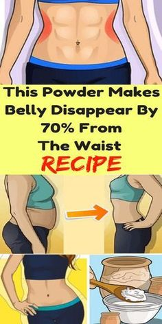 This Powder Makes Belly Disappear By 70% From The Waist!