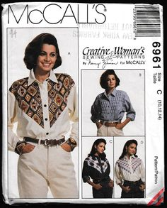 McCall's 6961 Misses' Long Sleeved Shirt with by OutoftheConex