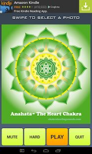 A relaxing and spiritual meditation! The colorful and beautiful mandalas for the seven main Chakras, broken up and spun around into tap puzzle pieces. Easy and hard levels. Just tap the pieces to spin them into place, while spiritual Tibetan bell and singing bowl music loops in the background (the music can also be muted). The puzzle also saves your best times for solving the puzzles. Namaste!