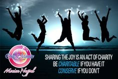 Sharing the joys is an act of charity, Be Charitable if you have it conserve it you don't http://drmonicanagpal.com/