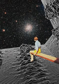 Unknown Pleasures to Infinity | Collage Al Infinito by Mariano Peccinett