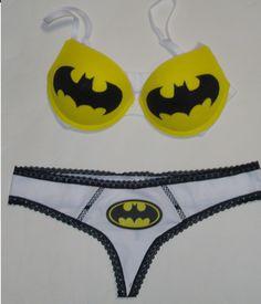 Batman Bra  Standard Bra and Thong by RainbowKidShop on Etsy, $39.99