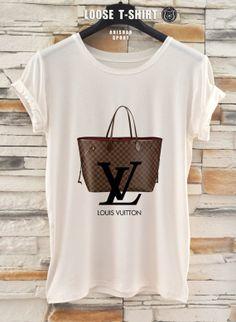 Louis Vuitton fashion  tshirt/white/black tshirt / by ANISHARsport, $18.90