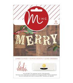 Heidi Swapp Minc Christmas Die-Cut Large Alphas 55/Pkg