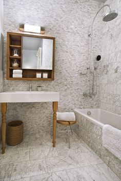 Here's Looking at You: A Mirror Personality Quiz; What does your bathroom mirror preference say about you? We offer some speculations to go with 11 very different mirror styles...  modern bathroom by Patrick Perez Architect