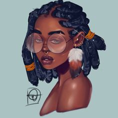These beautiful depictions of perfect beauty are shown through graphic art, paintings and sculptures. Enjoy and don't be surprised if you fantasize and fall in love. Black Art Painting, Black Artwork, Artist Painting, Black Love Art, Black Girl Art, Drawings Of Black Girls, Art Noir, Black Girl Cartoon, Black Art Pictures