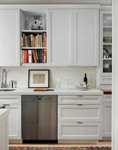 stainless ateel appliances and wood kitchen cabinets, kitchen design in eclectic style