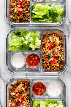 Keto Meal Prep Ideas That are Great for Work This delicious Turkey Taco Salad is perfect to meal prep, to make ahead for lunch for the week!This delicious Turkey Taco Salad is perfect to meal prep, to make ahead for lunch for the week! Lunch Meal Prep, Easy Meal Prep, Healthy Meal Prep, Lunch Meals, Meal Prep Salads, Keto Meal, Healthy Tacos, Meal Prep For The Week Low Carb, Week Lunch Prep