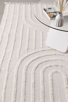 Shop Modern Hilo Tufted Beige Rug at Urban Outfitters today. Nursery Rugs, Boho Nursery, Bedroom Rugs, Minimalist Rugs, Minimalist Window, Minimalist Pattern, Minimalist Design, Funny Welcome Mat, 5x7 Rugs