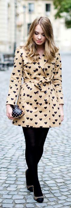 Heart trench coat