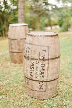 old barrels used as rustic decoration Photography by Xavier Navarro / xaviernavarro.com