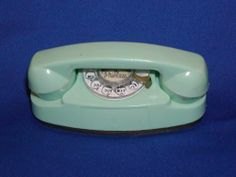 """In beige/pink color: Vintage Princess Toy Phone Green or Turquoise Plastic Doll Child Size 4 1 4"""" 