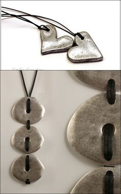 Make Salt Dough Jewelry – 2 cups flour, 1 cup salt, cold water. Mix until has consistency of play dough. bake at 250 for 2 hours, then cool and paint any color….good recipe for thumbprint pendants.