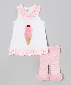 Love this Pink Ice Cream Tunic  Polka Dot Leggings - Infant on #zulily! #zulilyfinds