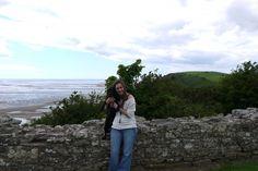 Amy & Brooke at Llansteffan Castle, Wales
