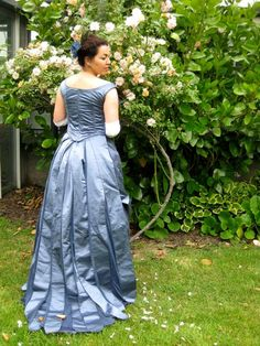 'Juno' Victorian Goddess Evening Gown, reproduction 1889 dress by Leimomi Oakes