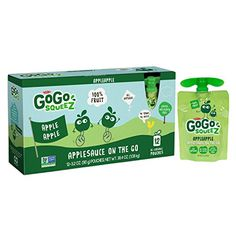 GoGo squeeZ Applesauce on the Go, Apple Apple, 3.2-Ounce Portable BPA-Free Pouches, 72 Pouches (6 Boxes with 12 Portable BPA-Free Pouches Each) ** Check this awesome product by going to the link at the image. (This is an affiliate link) #healthysnacksonthego