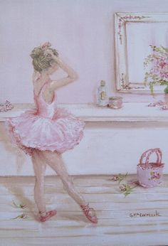 Ballerina painting by Gail McCormack Ballerina Art, Ballet Art, Ballerina Dancing, Ballerina Birthday, Foto Transfer, Princess Pictures, Tiny Dancer, Ballet Beautiful, Dance Art