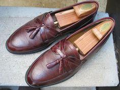 Giorgio Brutini Used Burgundy Leather Loafers 10.5 D #GiorgioBrutini #LoafersSlipOns
