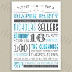 Free Diaper Party Invitations | Daddy Diaper Shower Invitations ...
