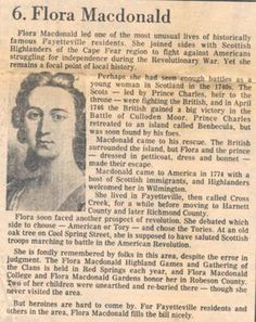 Article about Flora MacDonald that appeared in Fayaetteville Observer, September Scottish Gaelic, Scottish Clans, Clan Macdonald, Bonnie Prince, Scottish Culture, Scotland History, Family Roots, Scotland Travel, British Isles