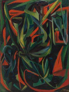 *Hilla von Rebay, Kompostion I, 1915  *Deutsche Malerin (1890 - 1967) und Gründungsdirektorin der Solomon R. Guggenheim Foundation in New York.