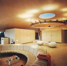 Made entirely of plastic, this fully circular villa was designed by Swedish architect Staffan Berglund for the Danish airline magnate Simon Spies; for years ignored by architecture critics, it has recently been revisited in a monograph.