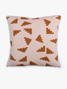Steps Cushion - Pink/Mustard by Hello Polly