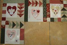 Patchwork Allsorts: April Snow Happy Heart Block