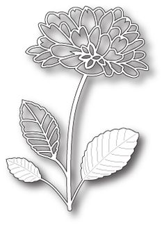98742 - Delightful Peony Outline. This item goes well with 98744.