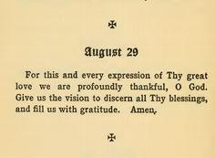 A beautiful prayer before meals.