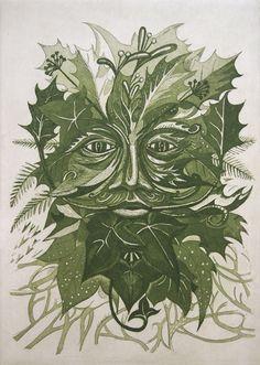 Winter Green Man: Kit Boyd (Etching and aquatint)
