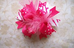 Hair BowFULL Size Funky Fun Over the Top by bowdaciousbows417, $7.99