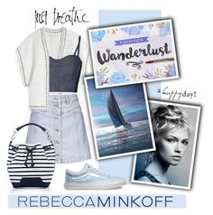"""""""Casual Nautical Style Rebecca Minkoff"""" by groove-muffin ❤ liked on Polyvore featuring Rebecca Minkoff, Topshop, Vans, women's clothing, women, female, woman, misses, juniors and contestentry"""