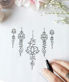 unalome lotus flower meaning Hand Tattoos, Yoga Tattoos, Finger Tattoos, Cute Tattoos, Body Art Tattoos, New Tattoos, Tatoos, Temporary Tattoos, Gorgeous Tattoos