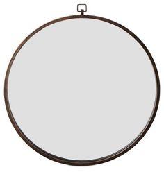 Hanging Round Mirror, Bronze - $219.00