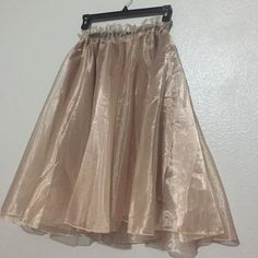 Tulle skirt! Sheer tulle A-line skirt! This skirt is perfect for a night out or any special occasion! Best fit for large or medium! Skirts A-Line or Full